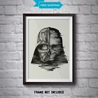 Darth Vader Print - Star Wars Wall Art - Death Star Collage Poster - All Sizes £12.99 GBP