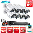 ANNKE 16CH 6MP NVR 8x 4MP HD ROI WDR Security IP Camera System 0- 4TB HDD Option