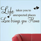 FAMILY LIFE LOVE HOME WALL ART STICKERS QUOTES WORDS PHRASES SAYINGS HOME DECOR