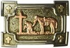 Ariat Mens Accessories Nocona Crumrine Square Prayer Buckle- Pick SZ/Color.