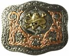 Ariat Mens Accessories Nocona Crumrine Multi Scroll Skull Buckle