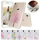 Shockproof Ultra Thin Floral Clear TPU+PC Phone Case Cover For iPhone X 8 7 Plus