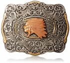 Ariat Mens Accessories Nocona Crumrine Scaloped Multi Head Dress Buckle