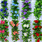 Внешний вид - 8Ft Artificial Fake Silk Rose Flower Ivy Vine Garland Wedding Party Home Decor