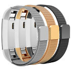 Milanese Loop Stainless Steel Wristband For Fitbit Alta Bands Magnetic Straps