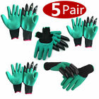 Gardening Genie Gloves Digging 4 Plastic Claws Garden Polyester Gloves