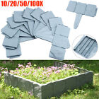 10-100 Gray Cobbled Stone Effect Plastic Garden Lawn Edging Plant Border Home US