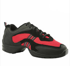 Jazz Dance Trainer sneaker exercise Red & Black with spin spot flexi sole 24