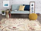 Tayse Deco Olefin Traditional Casual Classic Ivory Abstract Floral Rug DCO1001