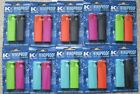 2pc Bright Neon Colour Refillable Lighter - Windproof / Turbo Flame Lighters
