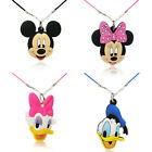 1pc Mickey DIY PVC Choker Necklace Pendant Rope Chain Fashion Charms Jewelry