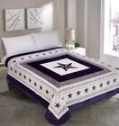 Dallas Cowboys Western Star Design Blanket BedSpread Comforter Navy Blue Set NEW image