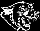 Panther #3 1 Color Window Wall Vinyl Decal Sticker Printed Mascot Graphic