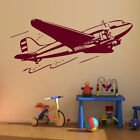 Aeroplane Boys Wall Sticker / Art Wall Vinyl Decal / Boys Wall Transfers x05