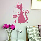 Cat & Mouse Wall Sticker / Decal Transfer / Vinyl Art Decor Graphic Stencil CA25