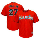 Miami Marlins Giancarlo Stanton Majestic Mens Red Alternate Cool Base Jersey