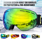 New Pro Snow Ski Snowboard Goggles Double Lens Anti fog UV BIKER Glasses F/S