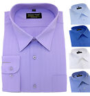 Men's BIG size Striped Cotton Shirt Classic Collar Formal Casual Long Sleeves