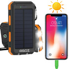 Solar Power Bank Water Resistant External Battery PORTABLE Charger for LG Phones