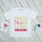 Baby Girl Promoted To Big Sister Letter Print Crew Neck Short Sleeve T-Shirt Apt