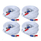 25/50/60/100/150ft Security Camera Video DC Power Cable BNC DVR Extension Cord
