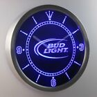 Bud Light Beer Bar Neon LED Wall Clock