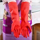 Kitchen Washing Gloves Long Waterproof Glove Rubber Hand Protector Dish Cleaning