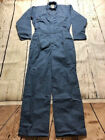 New Industrial Work Coverall Navy/Post Blue by REED-USA- 65 Polyester/35 Cotton