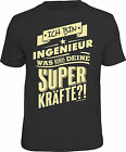 Fun T-Shirt Engineer and Superkräfte Birthday Shirt Gift Cool Printed