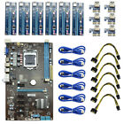 6GPU Mining Motherboard + 6PCS PCI-E Extender Riser Card For Bitcoin Miners