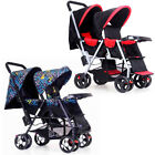 Foldable Twin Baby Double Stroller Kids Jogger Travel Infant Pushchair Strollers