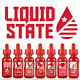 Liquid State By Cosmic Fog Premium Juice (60ml & 120ml) All Flavors!
