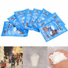 1~100 Packs Fake Snow Powder Instant Snow Fluffy Xmas Party Décor Just Add Water