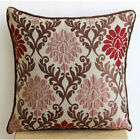 Damask 16X16 inch Jacquard Weave Brown Throw Pillows Cover - Royal Damask