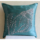 Blue Sea Shell 16X16 inch Silk Pillows Covers For Couch - Crystal Sea Shell