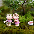 2Pcs Couple Lover Ornament Figurine Bonsai Plant Pots Fairy Garden Decor Dulcet