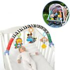 Baby Soft Plush Animal Dolls Stroller Bed Crib Hanging Toy Cot Rattle Seat Bell