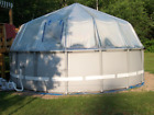 Round Soft-Sided Swimming Pool Cover Fabrico Sundomes Clear Vinyl Sundome Covers