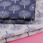 1.5x1m Money Tree Print Linen/Cotton Fabric for Upholstery Curtain Table Cloth