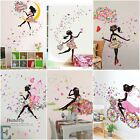 Cute Diy Lovely Girl Art Wall Stickers For Kids Rooms Pvc Wall Decals Home Decor