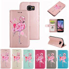 New Flamingo Pattern PU Leather Wallet Flip Folio Case Cover for Samsung S7 Edge