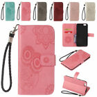 Owl Pattern PU Leather Flip Stand Cover & Wallet Case for iPhone 5 S 6 7 8 Plus