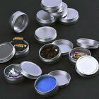 20xScrew Top Round Steel Cans Steel Screw Lid Containers Tin Can Survival Crafts