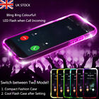 Clear Cool Led Flashing Tpu Phone Case Cover Shockproof For Iphone 5s 7 8 Plus X