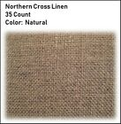 35 Count Natural/Raw NORTHERN CROSS Linen **YOU CHOOSE** Cross Stitch Embroidery