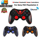 2x New Wireless Bluetooth Game Controllers Pad For Sony Ps3 Playstation 3 Black