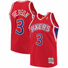 Allen Iverson Philadelphia 76ers  Mitchell & Ness Throwback Swingman Jersey-Red on eBay