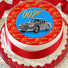 JAMES BOND 007 ASTON MARTIN 7.5 INCH PRECUT EDIBLE CAKE TOPPER DECORATION $3.6 USD on eBay
