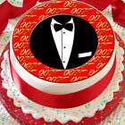 JAMES BOND 007 7.5 INCH PRECUT EDIBLE CAKE TOPPER DECORATION $3.6 USD on eBay