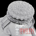 Ladies 10K White Gold Over Silver Simu Diamond 3D Lollipop Round Pinky Ring Band